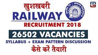 RRB Recruitment 2018: 26502 Vacancies | Syllabus + Exam Pattern Discussion | Sarkari Naukari 2017 Video