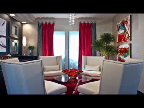 Gray and Red Living Room - YouTube
