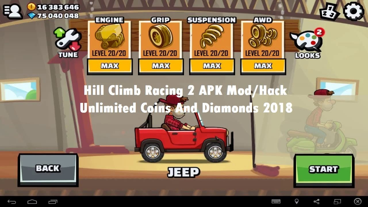 hill climb 2 mod apk free download