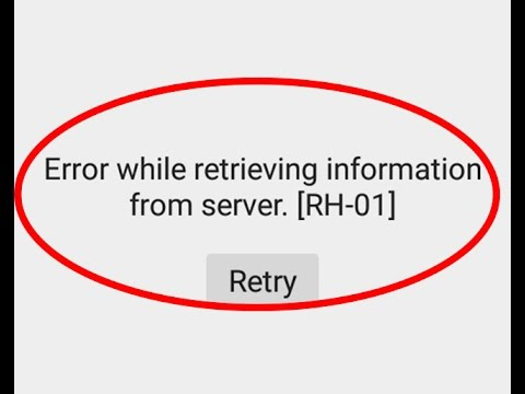 Fix Error while retrieving information from server[RH-01]-Google play store