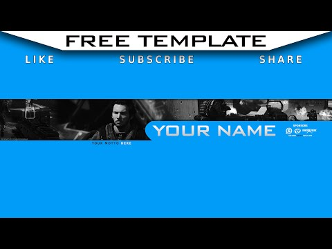 Free Youtube Gaming Banner Template | FREE DOWNLOAD | NO ADS! | The Kentucky Gamer