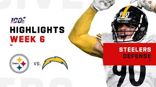 Steelers Defense Runs Over Chargers | NFL 2019 Highlights