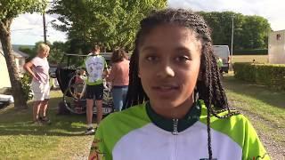 Portrait d'Emilie, jeune cyclotouriste