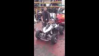250cc Quad Bike Revving