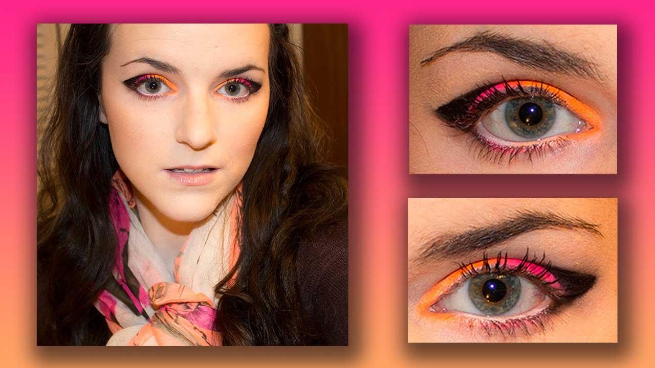 MYO Makeup Neon Eyeshadow || Eye Makeup Tutorial - YouTube