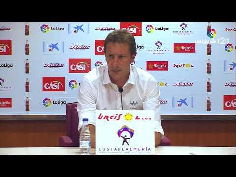 Rueda de prensa de Ramis tras el UD Almería vs Real Valladolid (1-1)