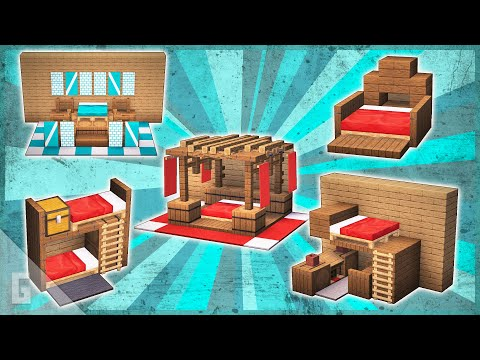 10 New Minecraft Bed Designs!