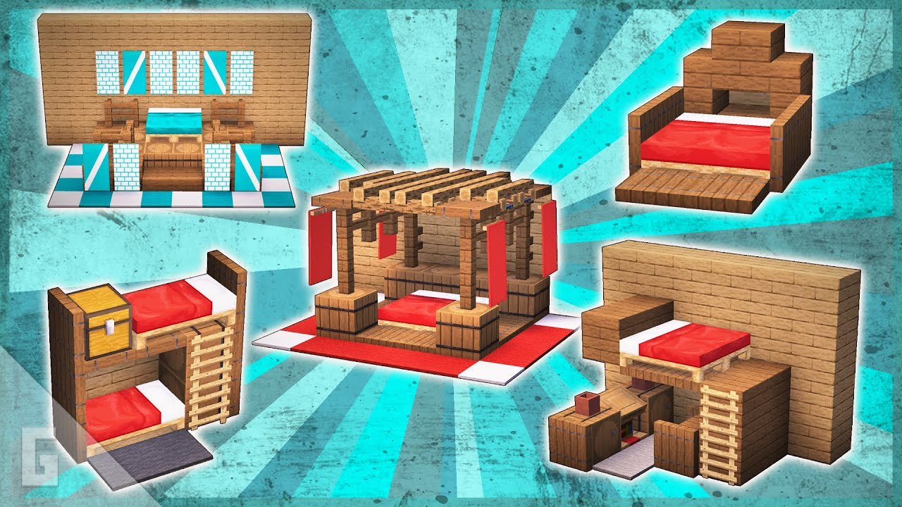 10 New Minecraft Bed Designs You