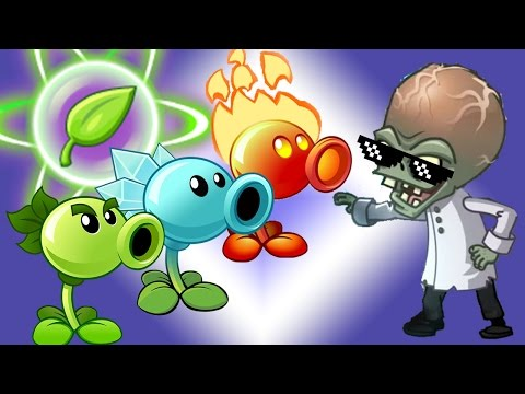 Plants vs Zombies Epic Power UP Snow Fire and Peas vs All Freakin' Zomboss