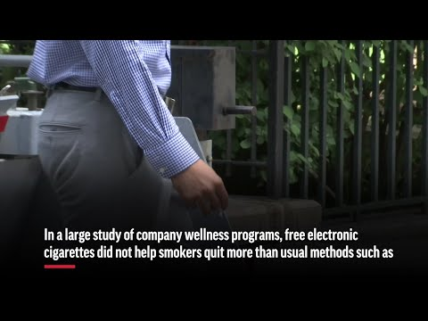 Money, Not E-Cigarettes, Helps More Smokers Quit