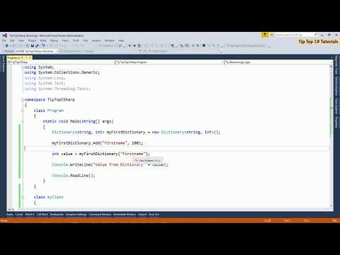 Understanding Dictionary Basic C# .net Part-1