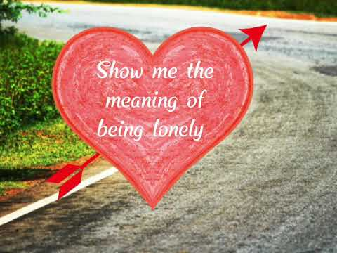 song show me the meaning of being lonely lyrics