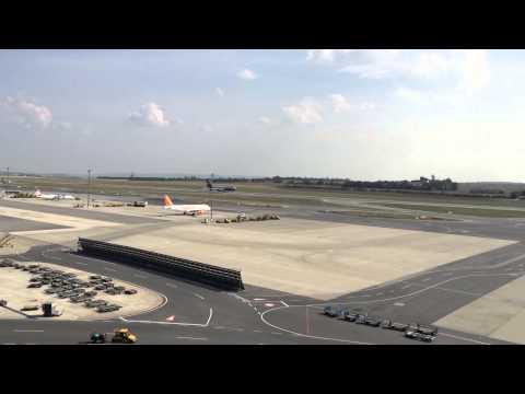 SW Italia B747 takeoff VIE airport
