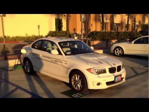 BMW ActiveE charging at Newport Beach Fashion Island