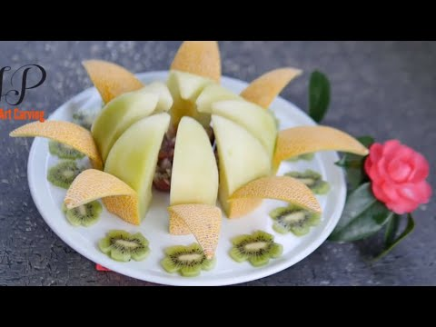 How to Make a Centerpiece with Melon   Fruit Carving