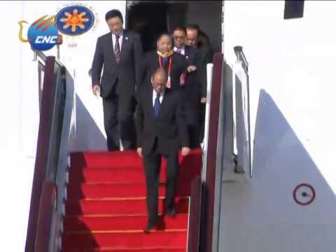 APEC: Philippine President Benigno Aquino III Arrives in Beijing