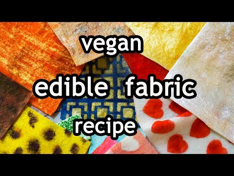fast and easy - make your own edible  fabric - vegan - recipe - english
