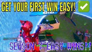 How To Get EASY WIN STREAKS In Fortnite SEASON 7! - Easiest Way To Get Wins In Fortnite