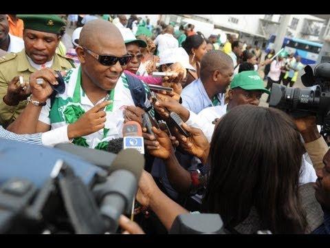 Hero's welcome for Nigeria's Super Eagles