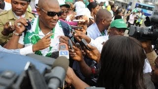 Hero's welcome for Nigeria's Super Eagles