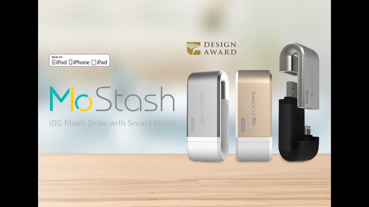 Teammostashthe Worlds 1st Ios Flash Drive Otg With Smart Stand Adam Element Iklips 64gb Gold Standapple Mfi Certified