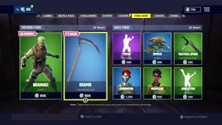 BUYING FORTNITE REAPER AXE IN ITEM SHOP [REAPER AXE GIVEAWAY FOR SUBSCRIBERS]