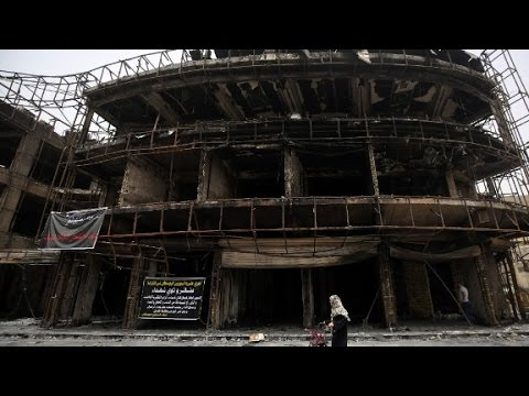 Drone shows devastation caused in Baghdad bombing