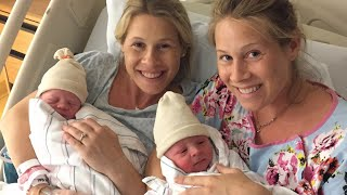 identical twin sisters give birth 20 hours apart in neighboring hospital rooms