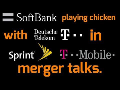 SoftBank playing chicken with Deutsche Telekom in Sprint/T-Mobile merger talks.