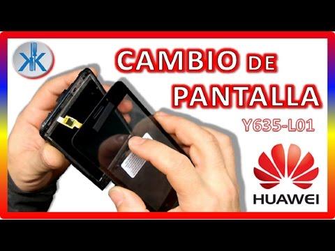 👍✔ Huawei Y635 -L01 COMO CAMBIAR PANTALLA TACTIL / cristal, digitalizador, Touch