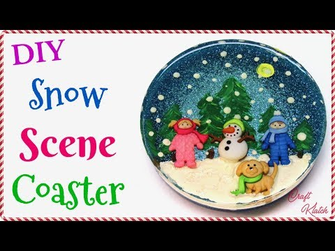 DIY Snow Scene Resin Coaster | Another Coaster Friday | Craft Klatch