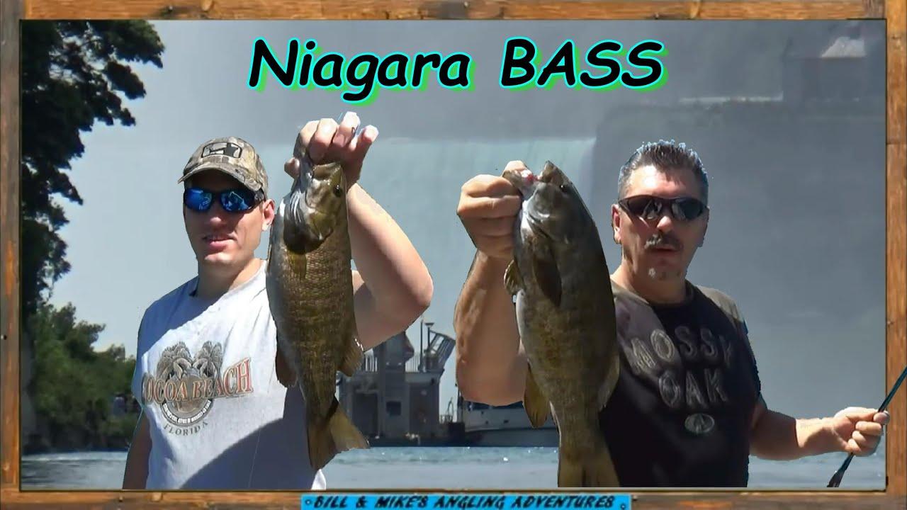 Niagara falls smallmouth bass fishing youtube for Lower niagara river fishing report