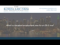 What is a targeted employment area for an EB-5 visa?