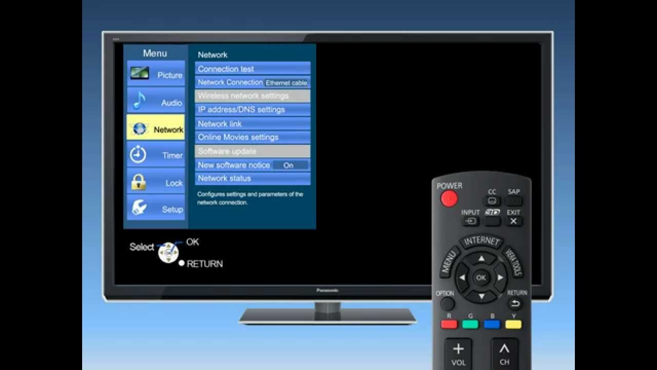 Hook Up Panasonic Viera To Internet