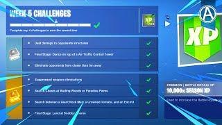 Fortnite WEEK 5 CHALLENGES GUIDE! (Fortnite Battle Royale)