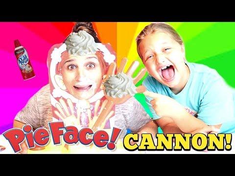 PIE FACE CANNON CHALLENGE Game! Parent VS Kid!