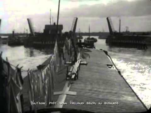 Amsterdam, harbour  post war Holland back in business