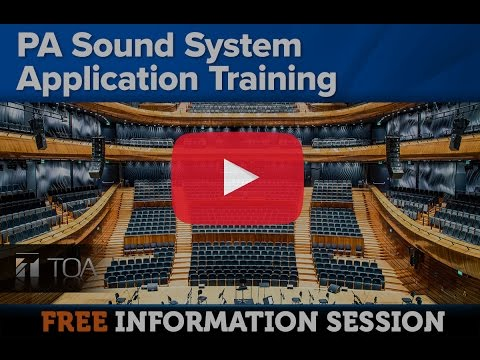 PA Sound System Application Training [10 March 2017]