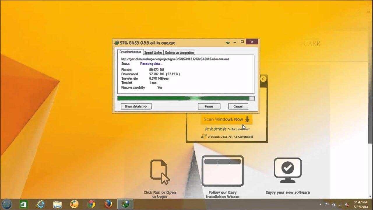 GNS3 Installation on windows 8 1