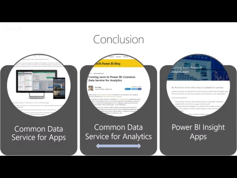 Introduction to Common Data Service For Analytics