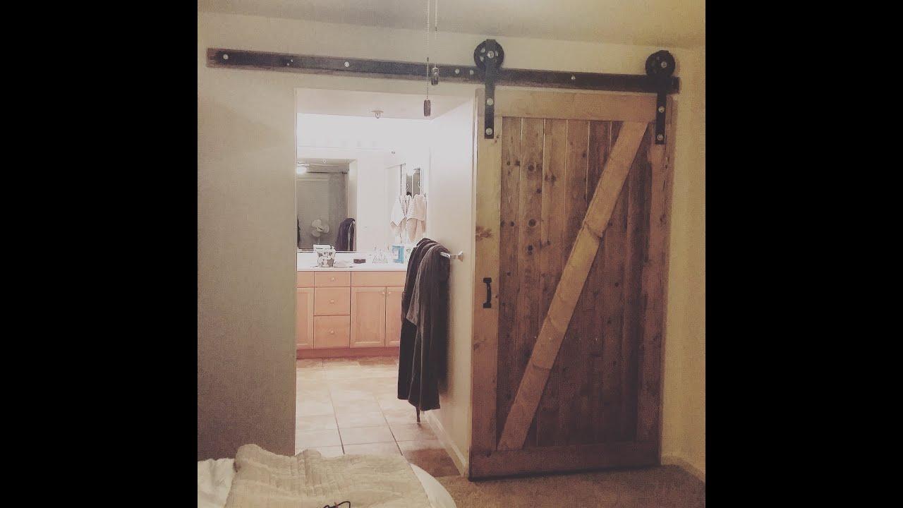 Homemade Barn Door  YouTube