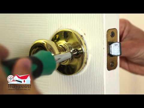 How to Fix a Stuck Door Latch - YouTube
