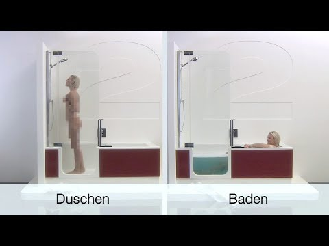 artweger twinline 2 duschbadewanne die badewanne der zukunft youtube. Black Bedroom Furniture Sets. Home Design Ideas