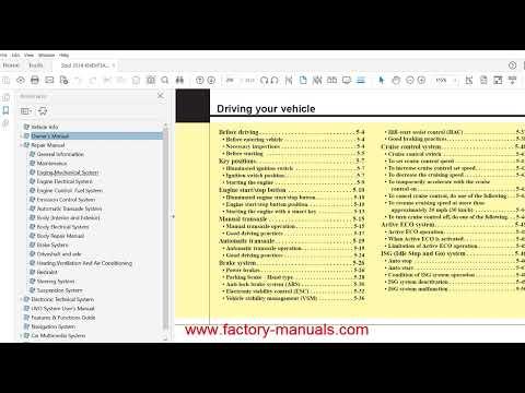 Kia Soul 2014 2015 2016 2017 repair manual