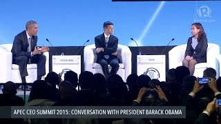 APEC CEO SUMMIT 2015: Obama hosts panel with Alibaba CEO and PH scientist