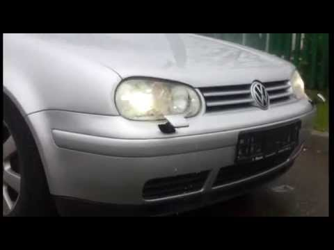 vw golf 4 xenon headlight washer youtube. Black Bedroom Furniture Sets. Home Design Ideas