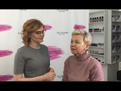 Как правильно нанести макияж на лицо после 50 лет