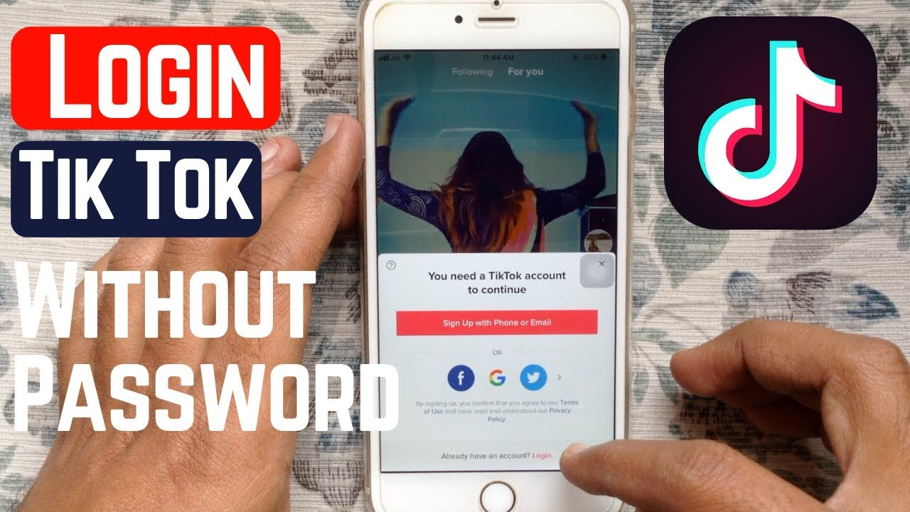 How To Login To Tik Tok Without Password Youtube