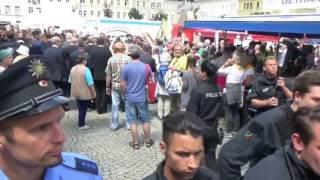 Joachim Gauck in Sebnitz mit Volksverräter Rufen empfangen