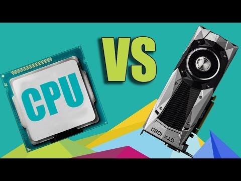 CPU vs GPU ¿Cúal es la diferencia? + Prueba de rendimiento